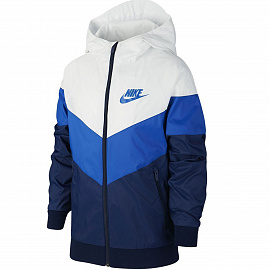 Детская ветровка Nike Sportswear Windrunner Jacket - White/Blue