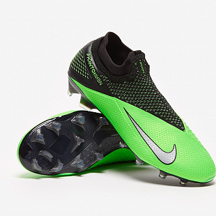 Бутсы Nike Phantom Vision 2 Elite Dynamic Fit FG - Black/Platinum/Green Strike