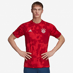 Футболка adidas FC Bayern Munich 2019/20 Home Pre-Shirt  - FCB True Red/Active Maroon