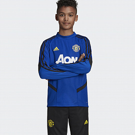 Детский свитер Adidas Tiro MUFC Top 19/20 - Royal/Black
