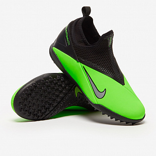 Детские шиповки Nike Phantom Vision 2 Academy Dynamic Fit TF - Green Strike/Platinum/Black