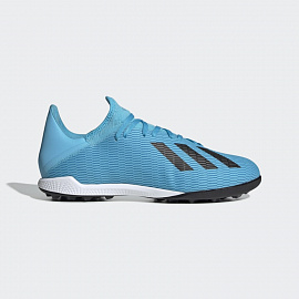 Шиповки Adidas X 19.3 TF - Bright Cyan/Core Black/Yellow