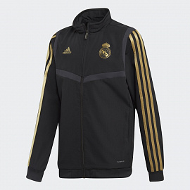 Детская куртка Adidas Real Madrid Presentation Track Top - Black/Drfogo