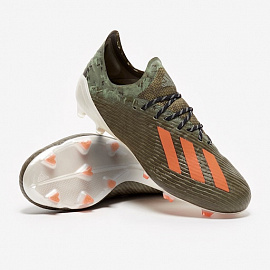 Бутсы Adidas X 19.1 FG - Legacy Green/Solar Orange/Chalk