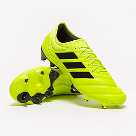 Бутсы Adidas Copa 19.1 FG - Solar Yellow/Core Black