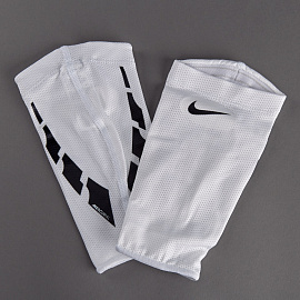 Сетки для щитков  Nike Guard Lock Elite Football Sleeve - White/Black/Black