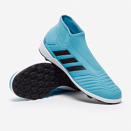 Шиповки Adidas Predator 19.3 Laceless TF - Bright Cyan/Core Black/Yellow